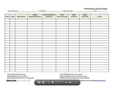 Use These Prop List Forms for All Your Theater Needs: General Props List (Theater Form)