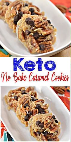 Here is a quick & easy homemade NO BAKE keto cookie recipe. If you are looking for a delicious, tasty cookie for a low carb diet then try this one out. Yummy caramel keto cookie recipe that is great for a grab & go breakfast, dessert, snack or treat. With a few ketogenic essential ingredients you can make these amazing caramel NO BAKE cookies. Keto friendly & the BEST cookie idea. Caramel Chocolate Chip keto cookies. Learn how to make keto cookies now :)