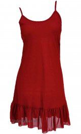 Ruffle Slip In 6 Colors. This is the perfect slip to add under your tunics to add length, style and color.