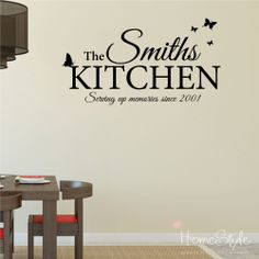 PERSONALISED KITCHEN NAMED WALL STICKERS DECALS IDEAL PRESENT Part 91