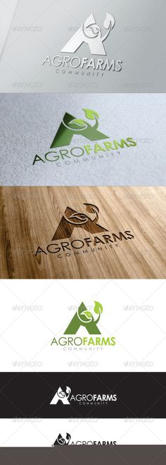 Capital A with leaf attached - Agro Farms Logo Typography Logo, Logo Branding, Branding Design, Lettering, Logo Desing, Typography Inspiration, Logo Design Inspiration, Preschool Logo, Agriculture Logo