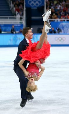 Ekaterina Bobrova and Dmitri Soloviev of Russia - Figure Skating Short Dance during day one of the Sochi 2014 Winter Olympics.