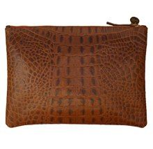 Clare Vivier Croc-Print Clutch. Bought it, love it. Ah, the smell of leather.