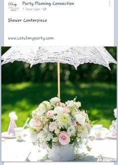 Baby shower centerpiece umbrella