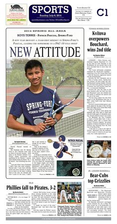 Patrick Pascual of Spring-Ford was named 2014 All Area Boys Tennis Player of the Year. Read more at http://www.gametimepa.com/Sports/ci_26096148/BOYS-TENNIS:-SpringFords-Pascual-earns-AllArea-Player-of-the-Year