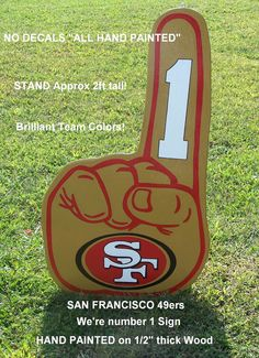 Items similar to San Francisco NFL We're Number One, Huge Wood Decor Sign, on Etsy Nfl Football Teams, Football Season, Nfl San Francisco, Porch Signs, Wood Patterns, Wood Ideas, Wooden Crafts, Number One, Door Hangers