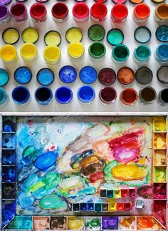 Mixing Watercolours — UPPERCASE