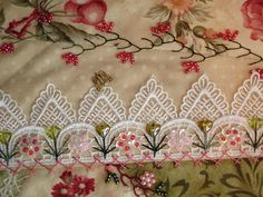 Embellished lace and beads collage