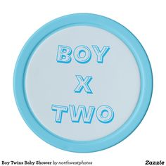 Boy Twins Baby Shower Set Of Poker Chips