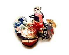 JiChang Chai Brooch: Taste of Ukiyoe, 2014 Aluminium, copper, agate JiChang Chai.  © By the author. Read    Klimt02.net Copyright   .