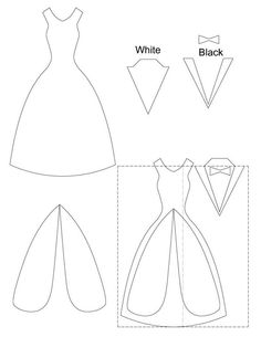 Dress template for a card