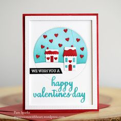 Memory Box Stitched Circle Heartscape, Stitched Heart Village, Sentimental Happy Valentines Day and poppystamps Double Stitch Rectangle Frames… |