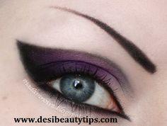 Black & Purple Gothic Eye Makeup.