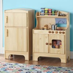 gorgeous wooden play kitchen