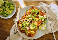 Slow Cooker Sweet Potato Enchiladas