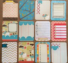 Love the look of fancy detailed project life cards, but started doing project life to save time? Then these cards are perfect for you! Get a set of a