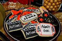 Cookies at a Red Carpet Hollywood Party #redcarpet #hollywoodparty
