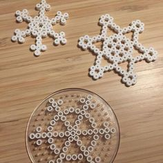 Snowflakes hama beads by  lilleverdenmin