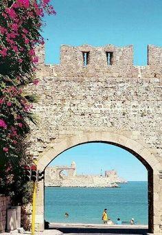 Beautiful old Town in Rhodes island, Greece