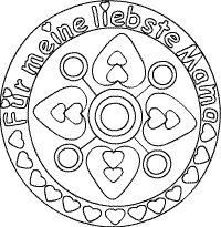 Muttertags-Mandala