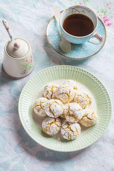 Recipe Crinkle Cookies, Cookie Designs, Sin Gluten, Cupcake Cookies, Deli, I Foods, Christmas Cookies, Sweet Recipes, Cookie Recipes