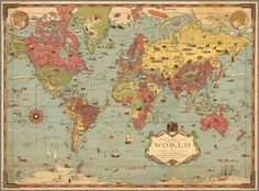 Mercator map of the world. By Ernest Dudley Chase; Chase, Ernest Dudley; 1931; Separate Map