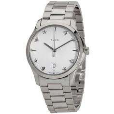 65c8d425750 Gucci G-Timeless Unisex White Guilloche Dial Sapphire Crystal Bracelet Watch
