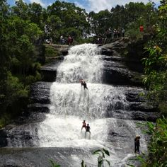 The gorgeous waterfalls of La Periquera near Villa de Leyva in Colombia.