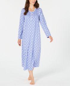 2d89db05e6c1 Charter Club Printed Long Cotton Nightgown