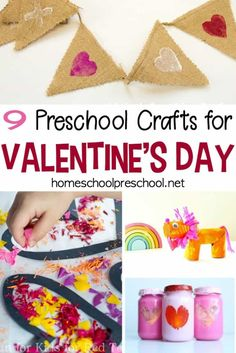 Preschoolers love crafting, and these Valentines Crafts for Preschoolers will make great handmade holiday gifts and decorations. Discover nine fun ideas! #valentinesday #valentinesdaycrafts #preschoolvalentine   https://homeschoolpreschool.net/valentines-crafts-for-preschoolers/