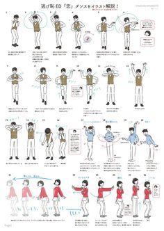 【21,445RT】『逃げ恥』の恋ダンスの振り付けをわかりやすく解説したイラストを描きました! - オモガニュース