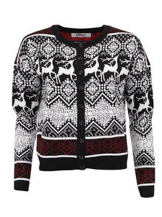Černý kardigan s jeleny ONLY Flake Sweaters, Fashion, Moda, Fashion Styles, Sweater, Fashion Illustrations, Sweatshirts, Pullover Sweaters, Pullover