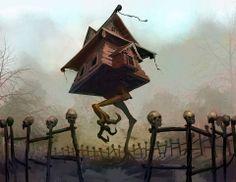 Baba Yaga's Hut by Thomas Denmark