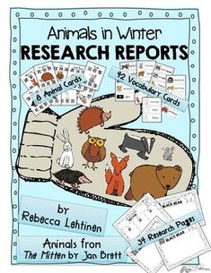 This set includes 8 different winter animal cards (based on The Mitten by Jan Brett) with QR codes linked to age-appropriate videos, photos, and read alouds designed for students to gather information about each animal.  The set also includes 1 Animals in Winter card with QR codes linked to age-appropriate videos and read alouds.