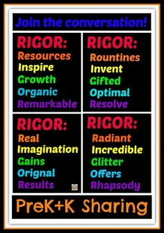 The Role of RIGOR in Early Childhood via PreK+K Sharing