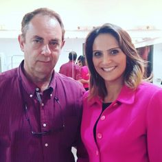 Com Amyr Klink no teatro Positivo em Curitiba.