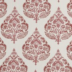 Regal Motif in Cassis by Robert Allen Drapery Fabric, Fabric Decor, Fabric Design, Fabric Blinds, Free Interior Design, Beautiful Interior Design, Ajrakh Prints, Red Home Decor, Robert Allen Fabric