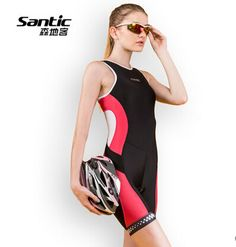SANTIC Women Triathlons Cycling Jerseys Breathable Sleeveless Bike skinsuit Bicycle Clothing Wear For Swimming Running Riding