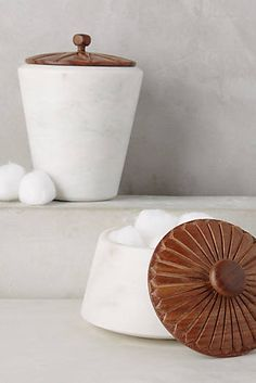 $68 - Marble Bath Canister - Anthropologie