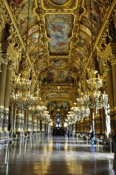 Opéra Garnier, the foyets, Paris by Maelo Paris