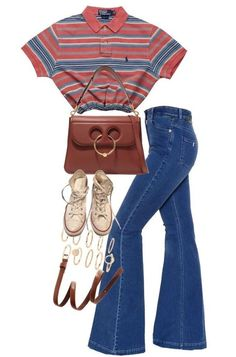 70s Inspired Fashion, 70s Fashion, Look Fashion, Teen Fashion, Korean Fashion, Fashion Outfits, Womens Fashion, Fashion Trends, High School Fashion