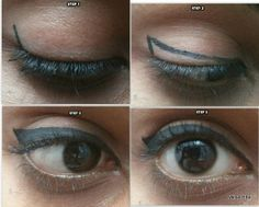 3 easy steps to apply winged eyeliner