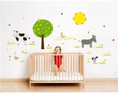 Farm kids and babies wall stickers - by Bumoon made in France