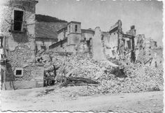 The retreating Germans leveled the countryside in Italy. Historic Castel di Sangro was pulverized and impoverished after the Wehrmacht carried away all the food and valuables it could find.