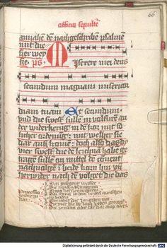 Liber ordinarius der Cistercienserschwestern von Kommunion, letzter Ölung, Tod und Leichenfeier 1439  Cgm 78  Folio 66r
