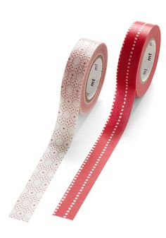 Glad to Adhere It Tape Set in Red and White
