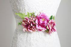 Wedding Sash Belt Bridal Sash Belt  Wedding Dress by NAFEstudio