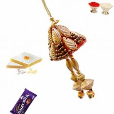 Picture of Heavy Zardosi and Golden Beads Lumba Rakhi Buy Rakhi Online, Rakhi To India, Innovation Design, Indian, Drop Earrings, Beads, Stuff To Buy, Color, Jewelry