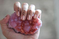 pink nails. pink rock.