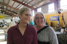 Photo by Jacque Jabs/Special to the Record Searchlight.  Char Million, left, and Robin Bowman, both of Redding attend the Nor-Cal Boat, Sport and RV Show on Sunday at Shasta District Fair grounds in Anderson.
